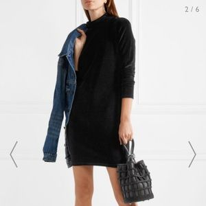 T by Alexander Wang Black Velvet Dress Size L